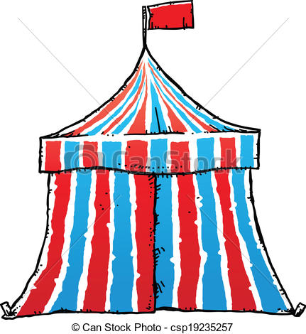 Tent clipart striped Cartoon A with of Striped