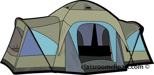 Tent clipart teal On Clip Camping campers_tent_0409 Free