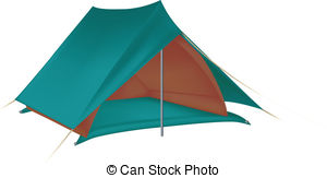 Tent clipart vector Line Simple tent Illustration of