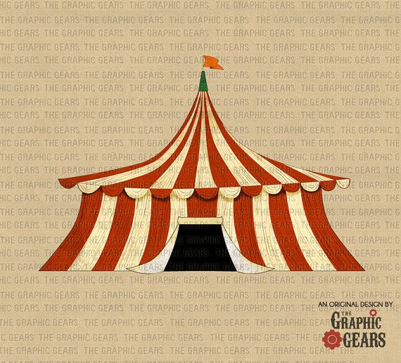 Tent clipart vintage carnival tent Clip Tent (personal Hollywood Tent