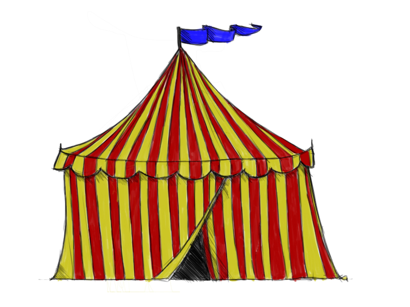Tent clipart vintage carnival tent Draw Circus Tent: How to
