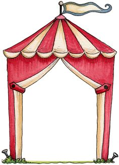 Tent clipart vintage carnival tent Free  vector clip this