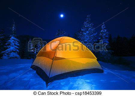 Tent clipart winter camping Winter Camping Tent Stock Winter