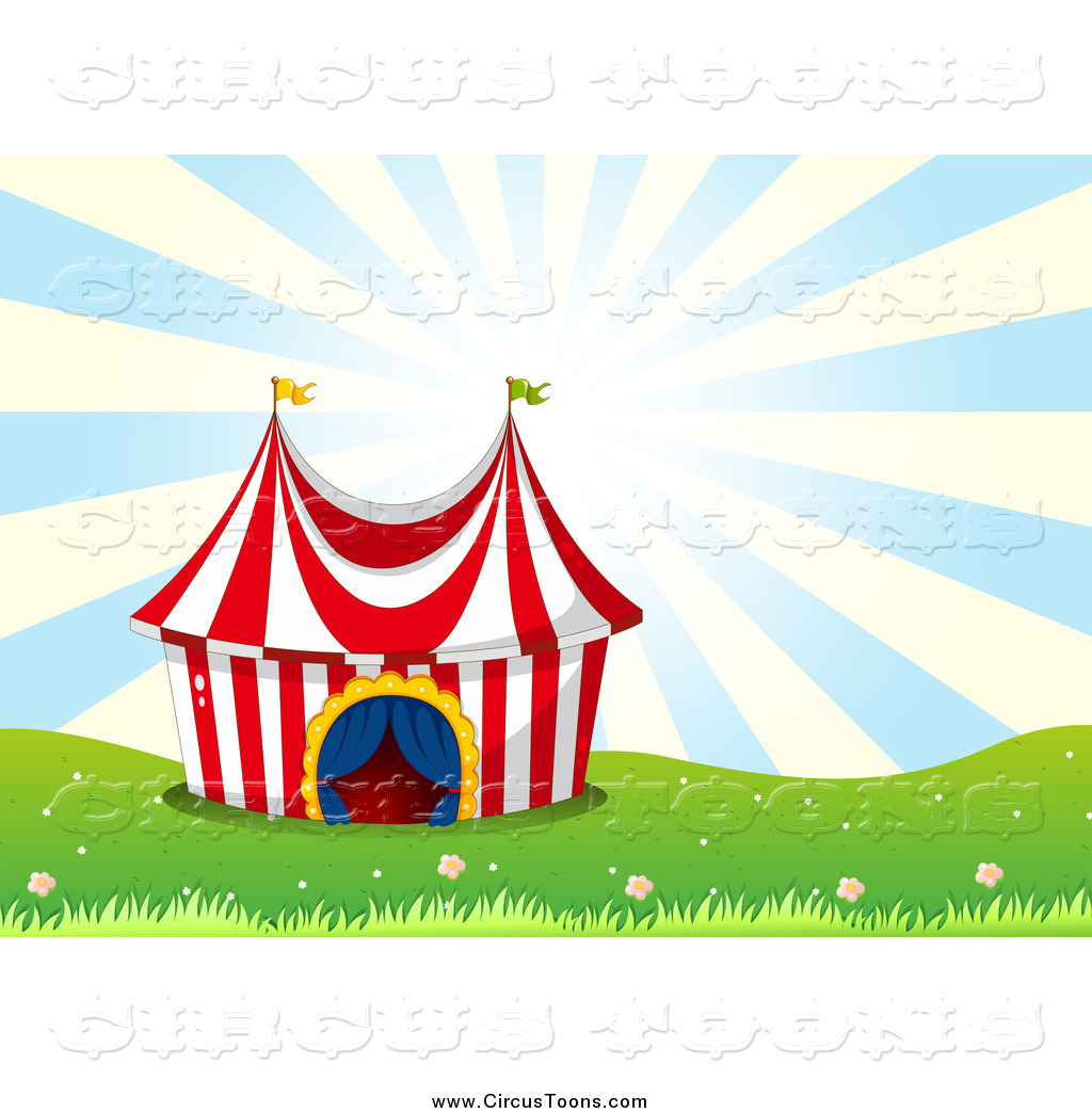 Tent clipart yellow Over Circus Tent Big Clipart