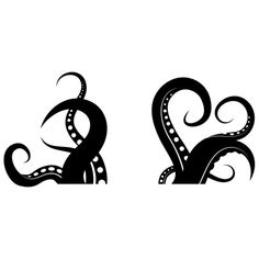 Tentacle clipart  100x46 Photos Tentacles Black