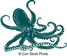 Tentacle clipart vector Clipart art 3 and clip