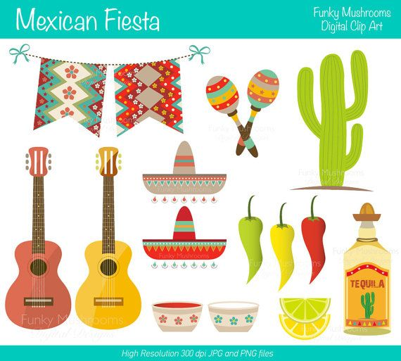 Decoration clipart mexican decoration Cactus Labels star Labels on