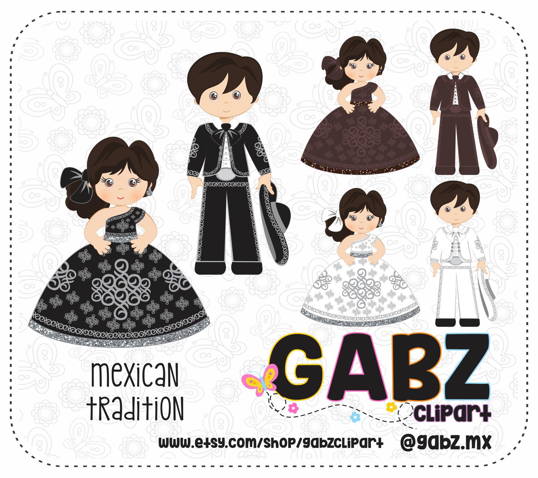 Tequila clipart mexican guitar Aztec Patterns file Confetti digital