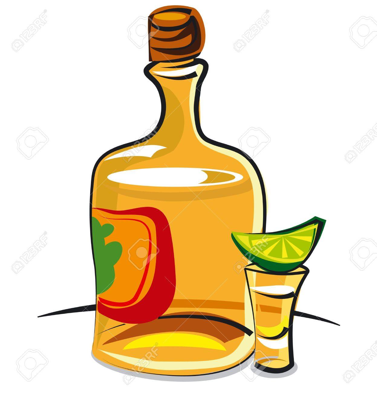 Tequila clipart Shot Clipart of Clipart Glass