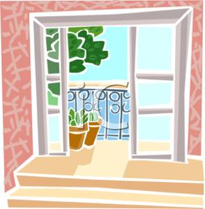 Terrace clipart patio furniture Free On Doors Royalty Terrace
