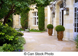 Terrace clipart courtyard Of mansion Terrace; French French