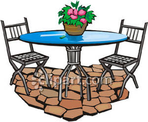 Terrace clipart patio furniture Cliparts Clipart Patio Patio