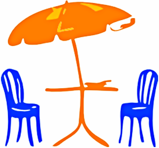 Terrace clipart patio furniture Clipart Patio Outdoor Umbrella cliparts