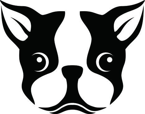 Boston Terrier clipart face Silhouette Boston  Cricut Boston