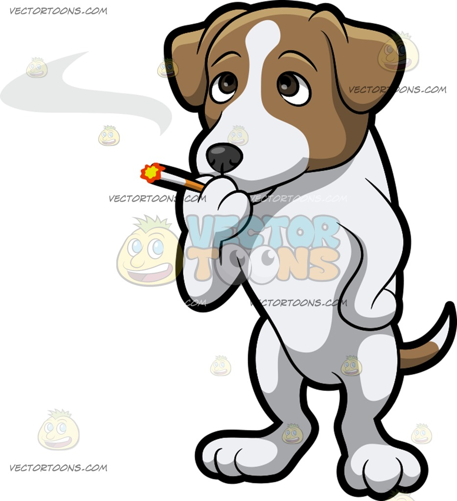 Jack Russell Terrier clipart Cartoon Clipart  Smoking Russell