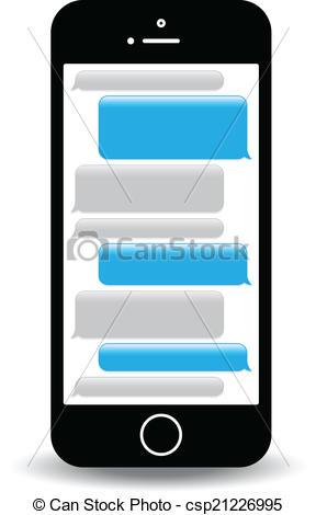 Text clipart Messaging phone Clip Text