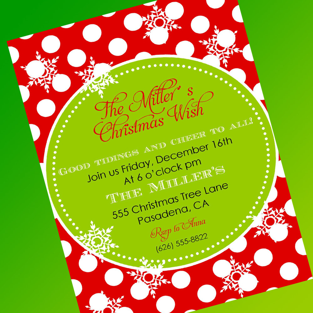 Text clipart christmas party Your Party Invitations free Template