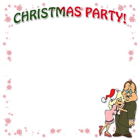 Text clipart christmas party Border Borders Christmas Free Christmas
