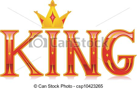Text clipart king Art csp10423265 of King Text