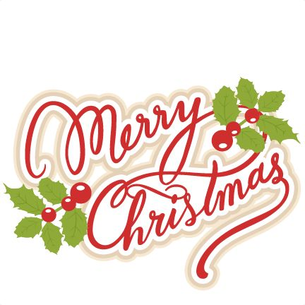 Text clipart merry christmas Merry outs christmas for title