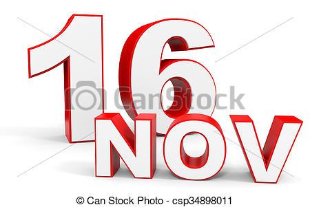 Text clipart november 3d November 16 16 on