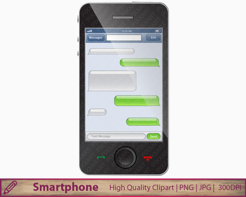 Phone clipart text message Message instant text Smartphone smart