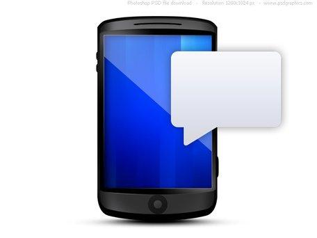 Bubble clipart text message Vectors with Cellphone message text