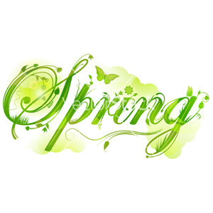 Text clipart spring Clipart PNG Polyvore Text SPRING!!!