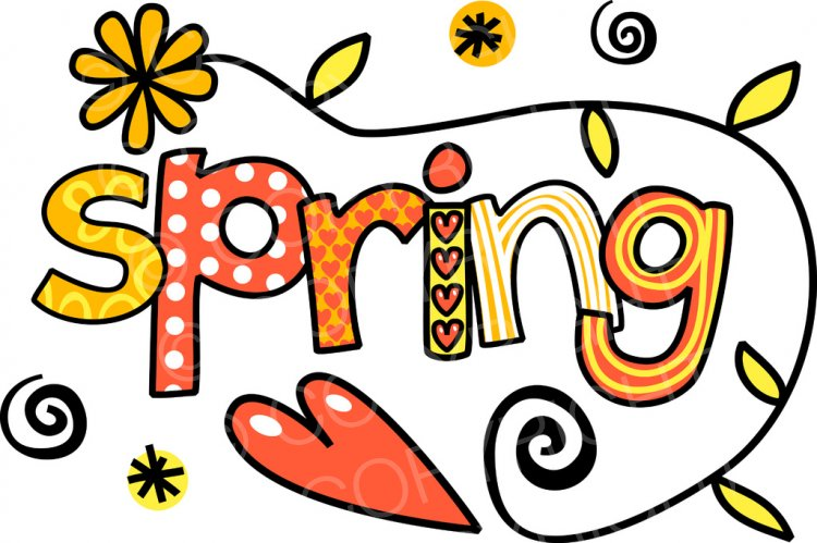 Text clipart spring The Clipart Cartoons of Spring