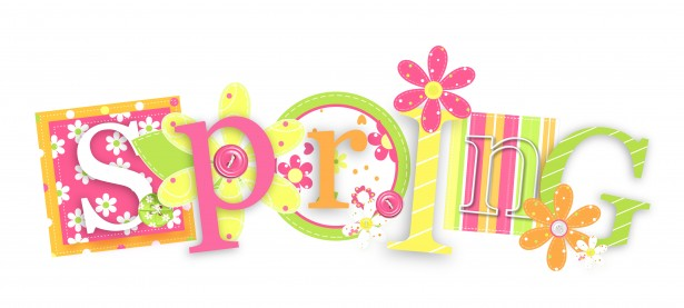 Text clipart spring Pictures Domain Photo Public Clipart