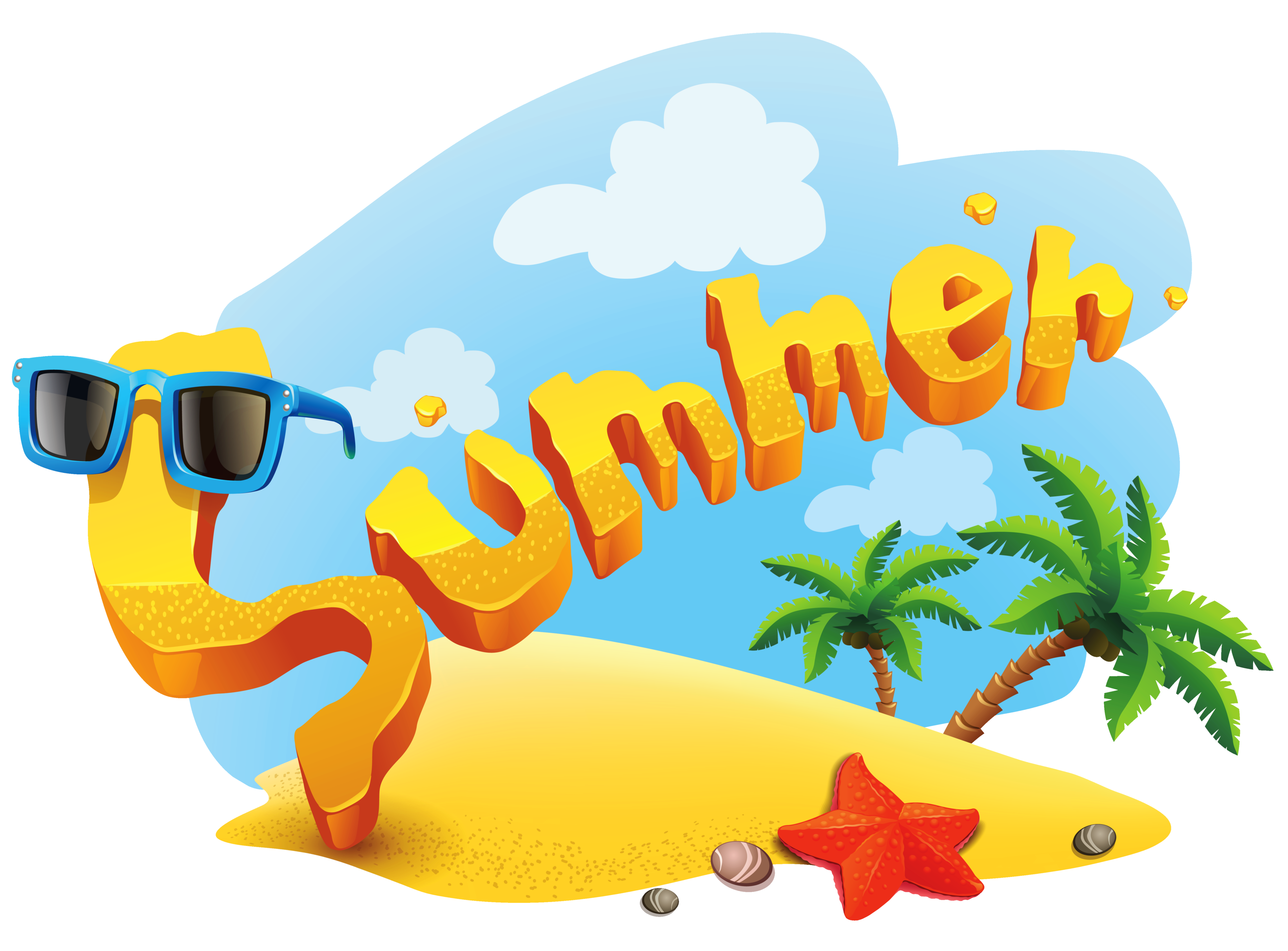 Text clipart summer Free summer beach Free Icons