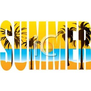 Text clipart summer Summer Summer Scene Picture Beach