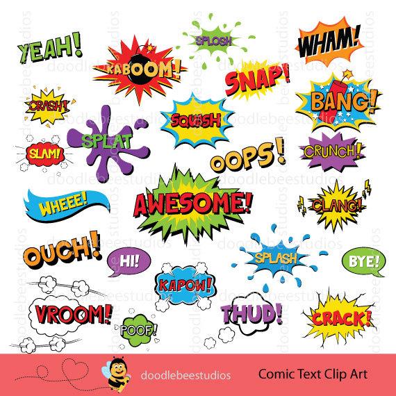Comics clipart superhero Comic Book Art Text Book