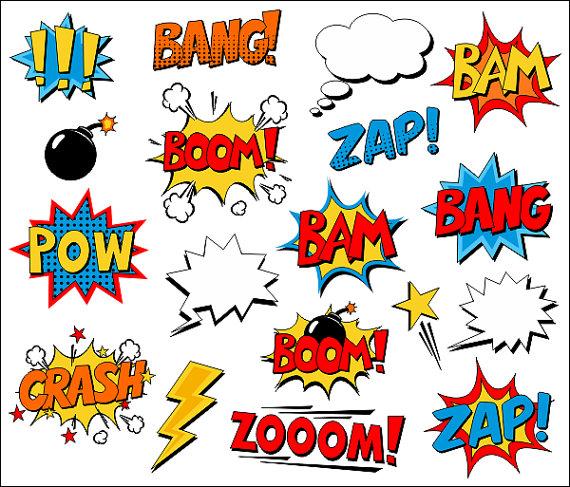 Comics clipart boom Cómic Bang voz libro texto