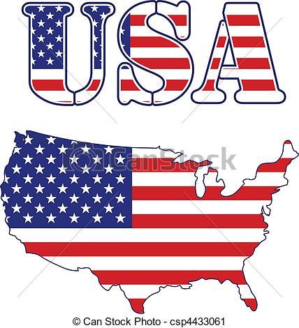 Text clipart usa United map Clip Flag Flag