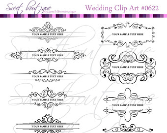 Text clipart wedding Etsy Frames Decorations cliparts Scrapbooking