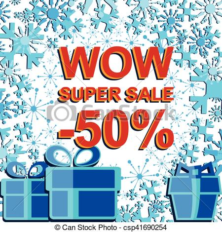 Text clipart winter SALE sale poster with SALE