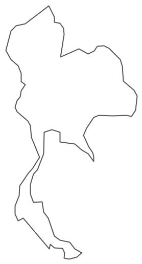 Thai clipart black and white Thailand Thailand Geo Map Contour