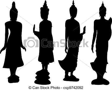Thai clipart buddhism Thai  standing standing Thai