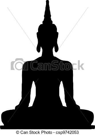 Thai clipart buddhism Thai  Buddha sitting csp9742053