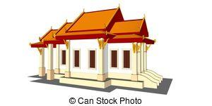 Thai clipart buddhist temple In Clipart design Chedi Stock