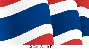 Thai clipart national flag Vectors Background waving with illustration