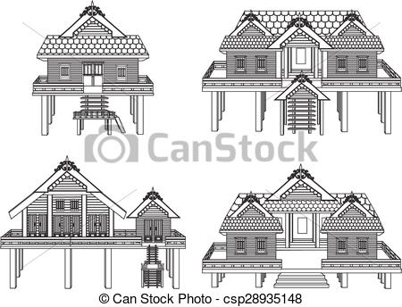 Thai clipart thai house  house house csp28935148 vector