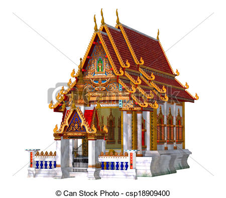 Structure clipart mandir Thai Free on the isolated