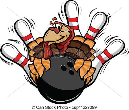 Thanksgiving clipart bowling Of Vector Turkey Thanksgiving Vector