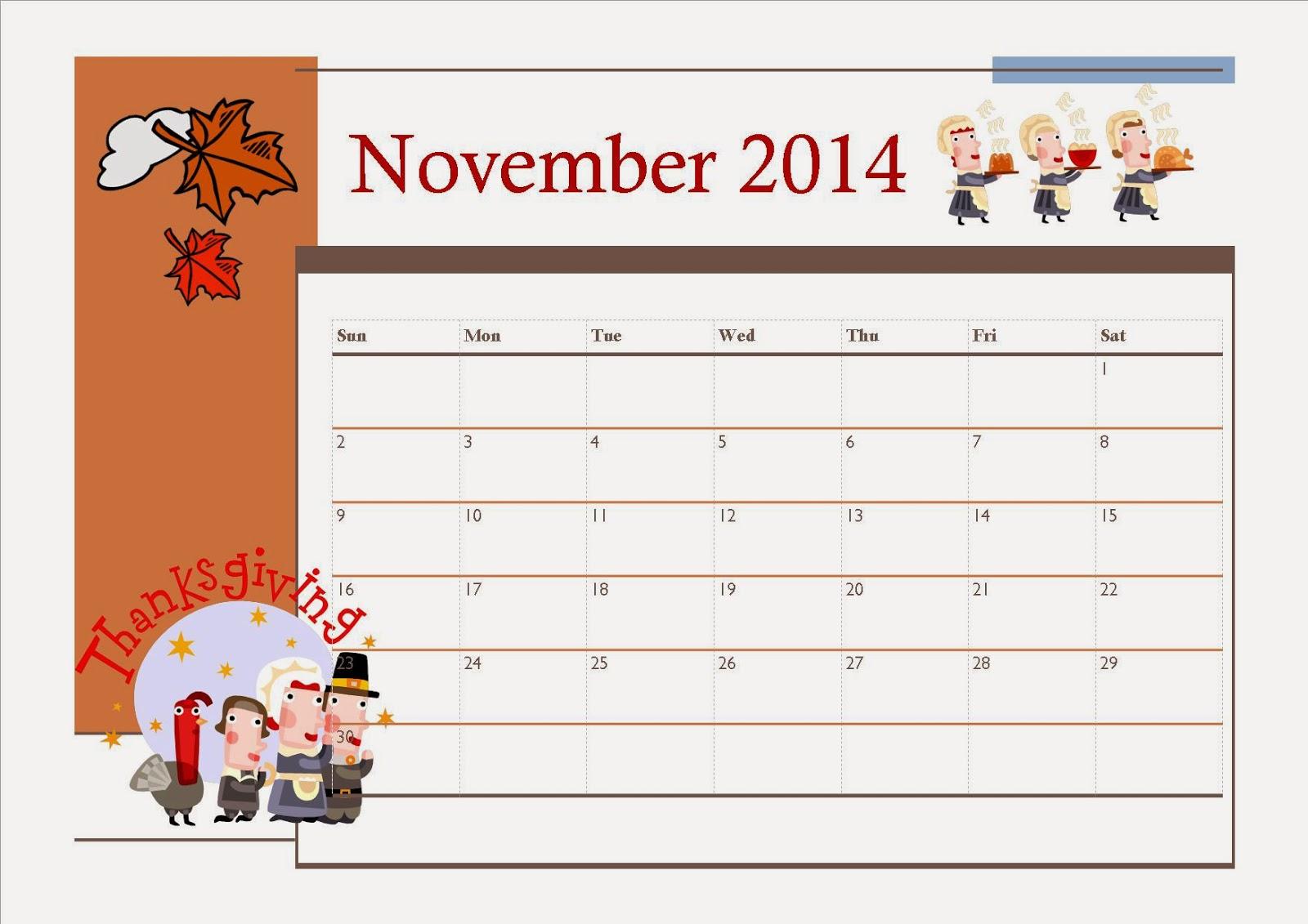 Thanksgiving clipart calendar Kids Thanksgiving Calendar clipart December