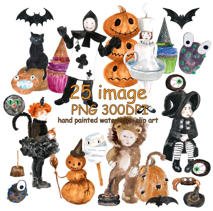Thanksgiving clipart cat Costumes Costumes Watercolor  costumes
