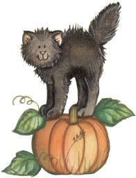 Thanksgiving clipart cat Autumn ClipartHalloween 1022 Images and