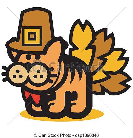 Thanksgiving clipart cat Funny clip Vector Cat Cat