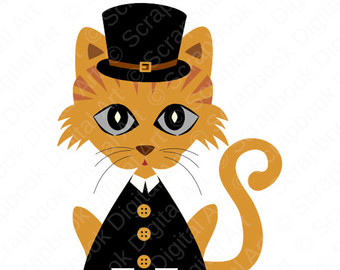 Thanksgiving clipart cat Hat SVG Cat Art Art